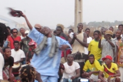 Youssouf dancing at a wedding Dundunba in Conakry