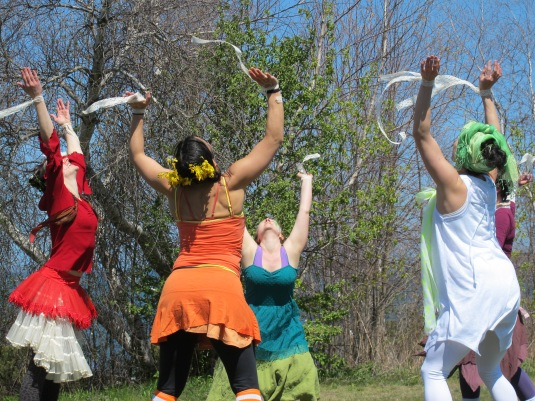 Blue Moon Tribe dancers giving it up! Photo by Cami Smalley