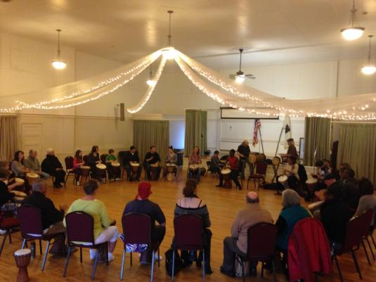 Over 30 People Turned out to Namory Keita's Drum Workshop on January 18th