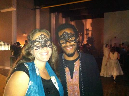Sandra & Adrian, Blue Moon Tribe Drummers at Biddeford Ball.